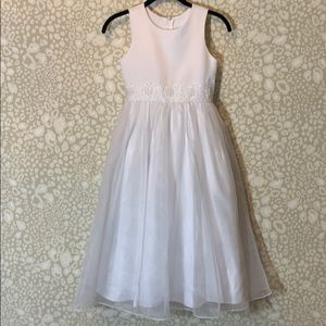US Angels white formal dress